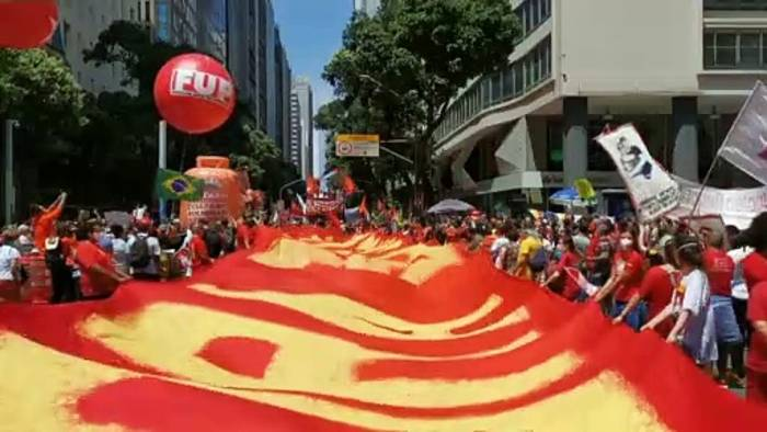 News video: Brasilien: Massenproteste gegen Präsident Bolsonaro