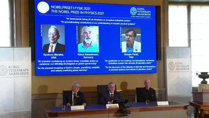 News video: Nobelpreis in Physik geht an deutschen Klimaforscher Klaus Hasselmann