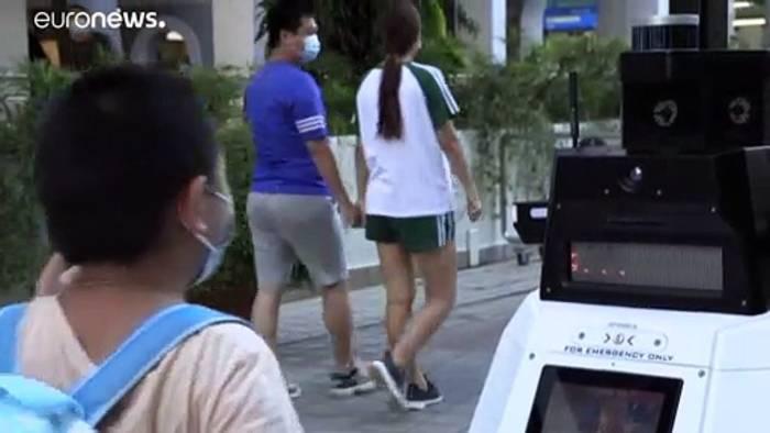 News video: Singapur: Roboter geht auf Patrouille