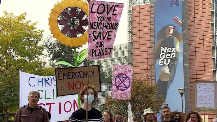 News video: Klimamarsch in Brüssel: Tausende machen vor COP26 Druck