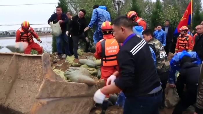 News video: Unwetter in China: Mehr als 1,76 Mio. Menschen sind in Shanxi betroffen