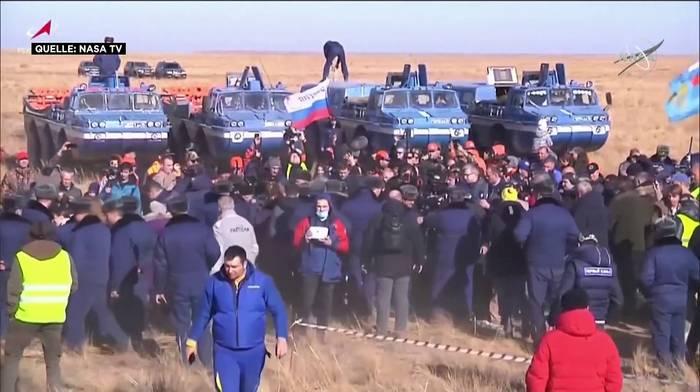 News video: Russen schneller als Hollywood: Erster Spielfilm auf der ISS gedreht