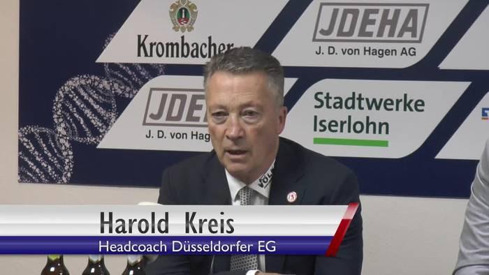 """Video: Harold Kreis. """"Iserlohn hat im richtigen Moment seine Torchancen genutzt"""""""