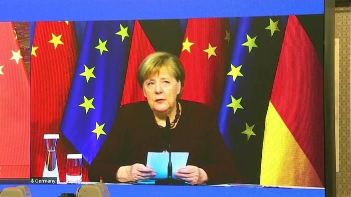 News video: Abschiedsgespräch Merkels mit Chinas Ministerpräsident Li Keqiang