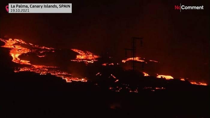 News video: Vulkan auf La Palma: Zweiter Lavastrom auf dem Weg ins Meer