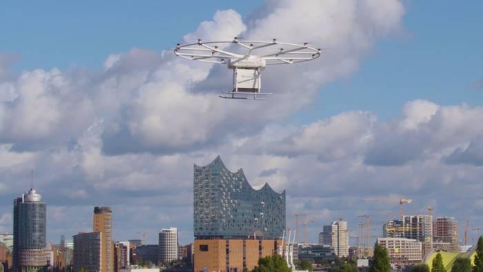 Video: Erster Waren-Drohnenflug in Deutschland - Volocopter auf dem ITS Summit