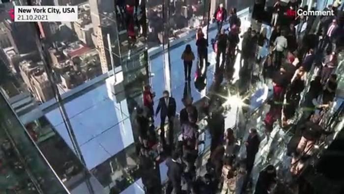 News video: Nur für Schwindelfreie: Wolkenkratzer mit Rund-Um-Aussicht auf New York
