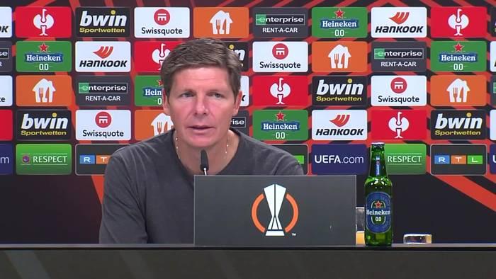 Video: Eintracht-Coach Glasner warnt nach Sieg gegen Olimpiacos vor dem VFL Bochum