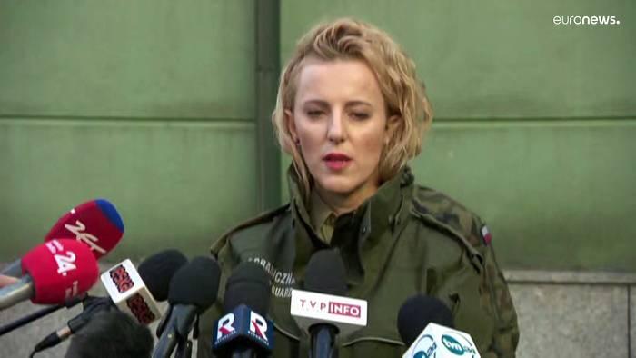 News video: Migranten an Belarus-Grenze: Polen erhöht Zahl der Soldaten auf 10.000